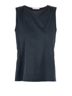Fabiana Filippi: t-shirts - Belted sleeveless Tee