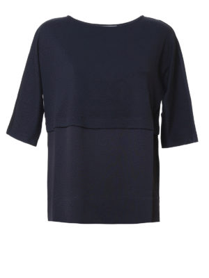 Fabiana Filippi: t-shirts - Colour block cotton and silk Tee