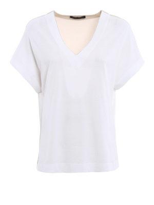 Fabiana Filippi: t-shirts - Crepe panelled T-shirt