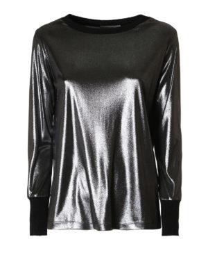 Fabiana Filippi: t-shirts - Laminated jersey T-shirt
