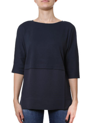 Fabiana Filippi: t-shirts online - Colour block cotton and silk Tee