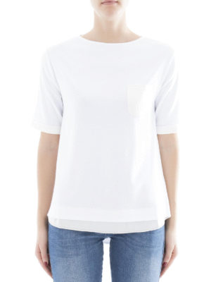Fabiana Filippi: t-shirts online - Cotton T-shirt with chest pocket