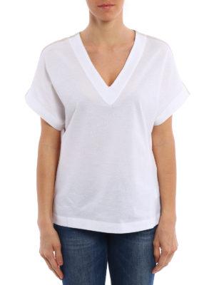 Fabiana Filippi: t-shirts online - Crepe panelled T-shirt