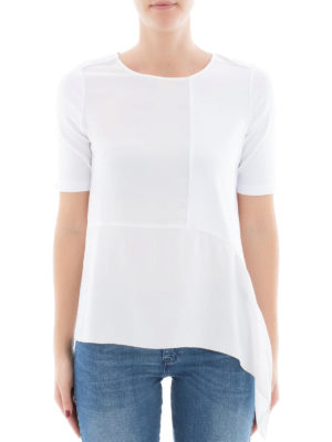 Fabiana Filippi: t-shirts online - Flounced silk blend T-shirt