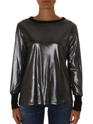 Fabiana Filippi: t-shirts online - Laminated jersey T-shirt