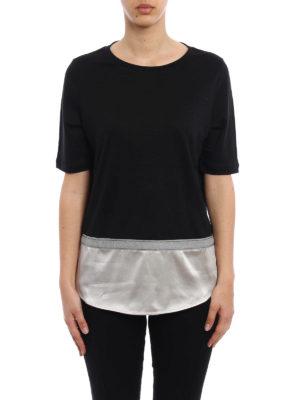 Fabiana Filippi: t-shirts online - Silk bottom linen T-shirt