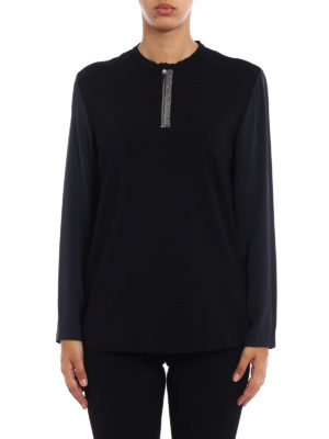 Fabiana Filippi: t-shirts online - Silk long sleeve cotton T-shirt