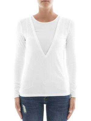 Fabiana Filippi: t-shirts online - Stretch cotton long sleeve T-shirt