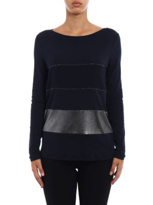 Fabiana Filippi: t-shirts online - Striped pattern long sleeve T-shirt