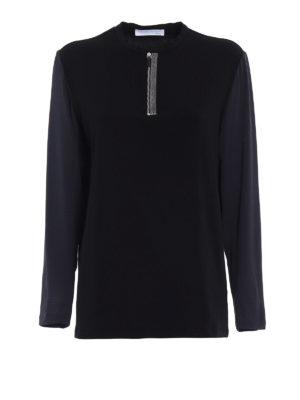 Fabiana Filippi: t-shirts - Silk long sleeve cotton T-shirt