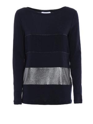 Fabiana Filippi: t-shirts - Striped pattern long sleeve T-shirt