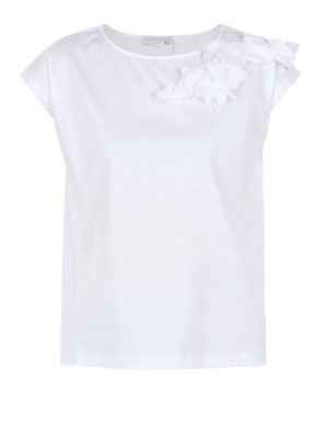 Fabiana Filippi: t-shirts - Tonal appliqué cotton Tee