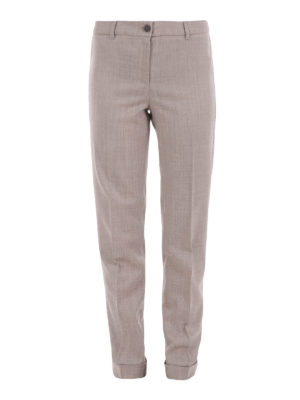 Fabiana Filippi: Tailored & Formal trousers - Assisi wool tapered trousers