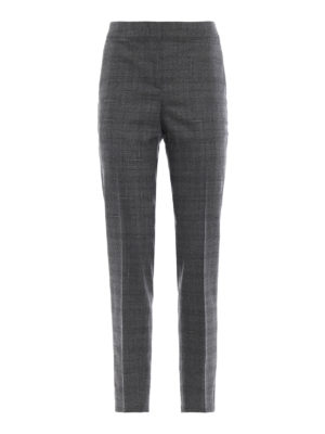 FABIANA FILIPPI: Pantaloni sartoriali - Pantaloni in lana a quadri con punti luce