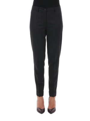 Fabiana Filippi: Tailored & Formal trousers online - Assisi wool tapered trousers