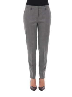 Fabiana Filippi: Tailored & Formal trousers online - Montefalco wool tapered trousers