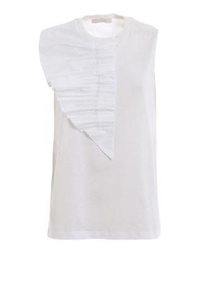 FABIANA FILIPPI: Tops & Tank tops - Asymmetric poplin bib cotton top