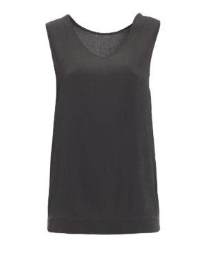 Fabiana Filippi: Tops & Tank tops - Embellished textured silk top