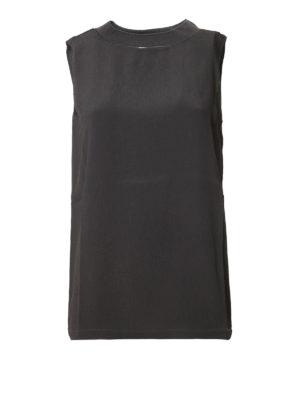 Fabiana Filippi: Tops & Tank tops - Jewel neckline crepe tank top
