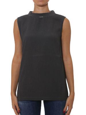 Fabiana Filippi: Tops & Tank tops online - Jewel neckline crepe tank top