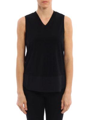 Fabiana Filippi: Tops & Tank tops online - Mesh V-neck jersey top