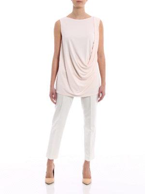Fabiana Filippi: Tops & Tank tops online - Pink crepe cady drapery top