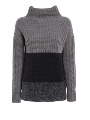 Fabiana Filippi: Turtlenecks & Polo necks - Braided wool and silk pullover