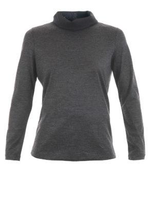 Fabiana Filippi: Turtlenecks & Polo necks - Chiffon detailed wool turtleneck