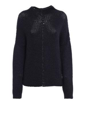 Fabiana Filippi: Turtlenecks & Polo necks - Grey melange wool blend sweater