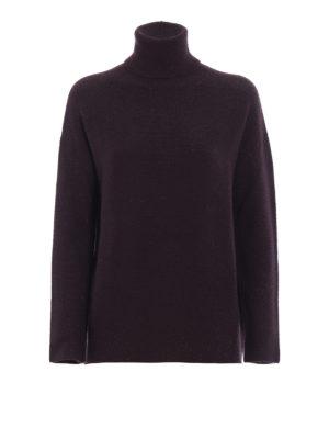 FABIANA FILIPPI: maglia a collo alto e polo - Dolcevita over in misto lana con lurex