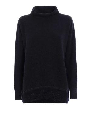 Fabiana Filippi: Turtlenecks & Polo necks - Lurex bottom wool blend sweater