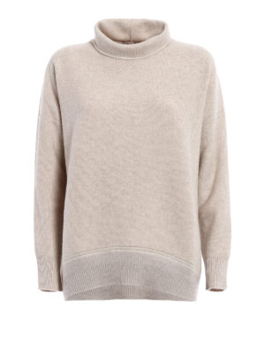 Fabiana Filippi: Turtlenecks & Polo necks - Lurex bottom wool blend sweater
