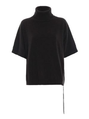FABIANA FILIPPI: maglia a collo alto e polo - Dolcevita boxy in merino con punto luce
