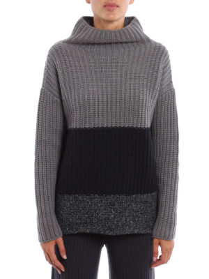 Fabiana Filippi: Turtlenecks & Polo necks online - Braided wool and silk pullover