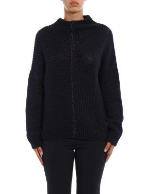 Fabiana Filippi: Turtlenecks & Polo necks online - Grey melange wool blend sweater