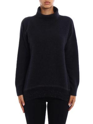 Fabiana Filippi: Turtlenecks & Polo necks online - Lurex bottom wool blend sweater
