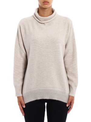 Fabiana Filippi: Turtlenecks & Polo necks online - Lurex bottom wool blend sweater