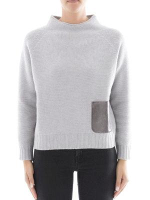 Fabiana Filippi: Turtlenecks & Polo necks online - Platinum blend mock neck jumper