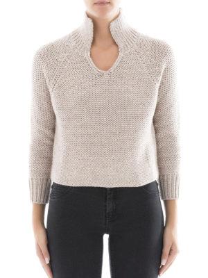 Fabiana Filippi: Turtlenecks & Polo necks online - Polo collar Platinum blend jumper
