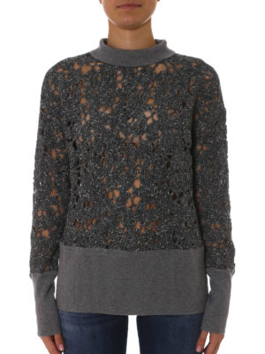 Fabiana Filippi: Turtlenecks & Polo necks online - See-trough mock neck sweater