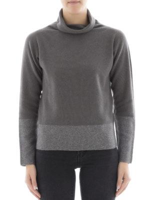 Fabiana Filippi: Turtlenecks & Polo necks online - Two-tone Platinum blend sweater