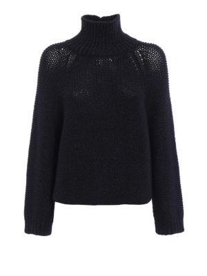 Fabiana Filippi: Turtlenecks & Polo necks - Purl knit stitch merino turtleneck