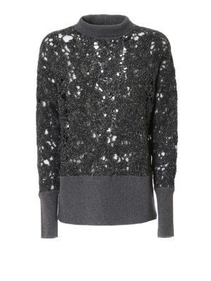 Fabiana Filippi: Turtlenecks & Polo necks - See-trough mock neck sweater