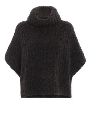 FABIANA FILIPPI: maglia a collo alto e polo - Dolcevita poncho in soffice lana melange