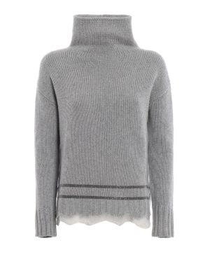 FABIANA FILIPPI: maglia a collo alto e polo - Dolcevita in misto cashmere con punto luce