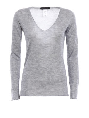 Fabiana Filippi: v necks - Cashmere and silk V-neck sweater