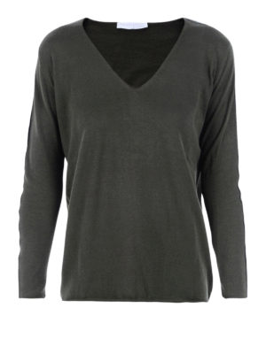 Fabiana Filippi: v necks - Embellished cotton V-neck sweater
