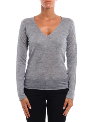 Fabiana Filippi: v necks online - Cashmere and silk V-neck sweater