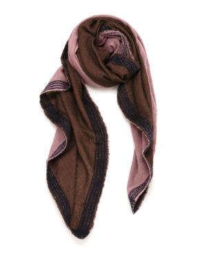 Faliero Sarti: scarves - Doppino contrasting trims scarf