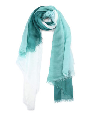 Faliero Sarti: scarves - Ginevra shaded green pashmina